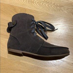 Genuine nubuck leather boots